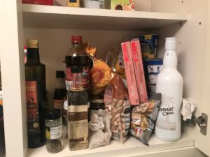 Untidy cupboard