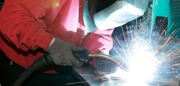 MIG welding at Red Box Engineering
